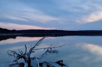 Sonnenuntergang am Hamersley Inlet